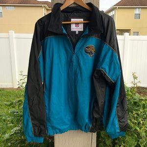 NFL Jacksonville Jaguars Zip Jacket Faux Leather L